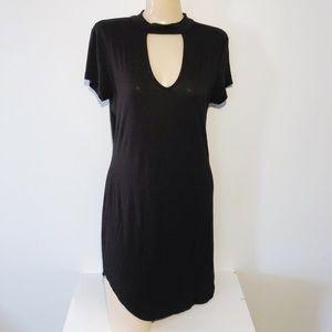 POLLY & ESTHER BLACK CHOKER DRESS